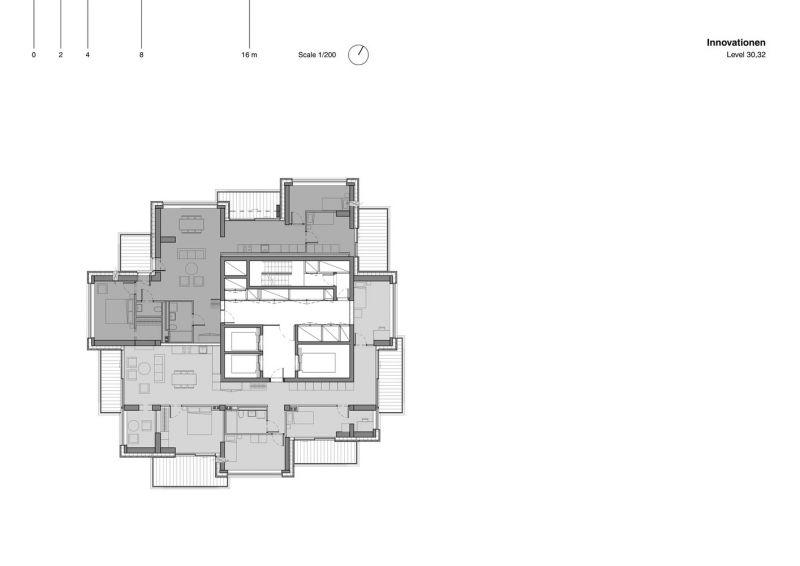 arquitectura Norra Tornen OMA Reiner de Graaf Torre Innovationen planta tipo 3