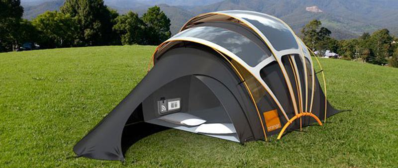 arquitectura, arquitecto, sostenibilidad, ecología, ecológico, sostenible, acampada, camping, tienda, energía solar, Orange Solar Tent, Kaleidoscope, Orange