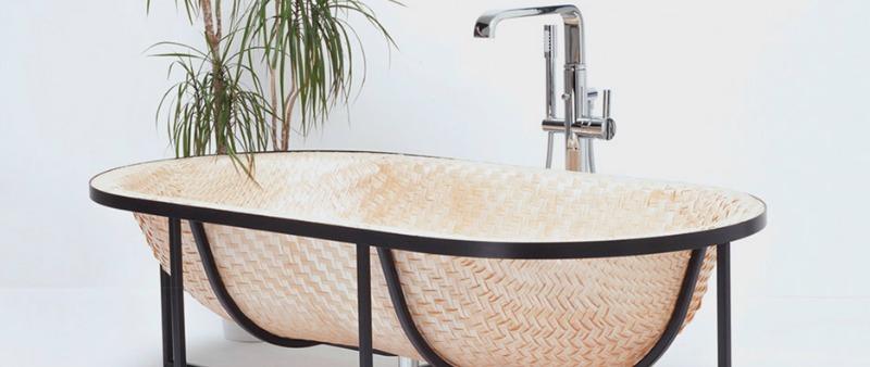 arquitectura, arquitecto, diseño, design, interior, interiorismo, Otaku Bathtub, Tal Engel, sanitario, bañera, baño, embarcación, barco, técnica tradicional asiática, acero, bambú