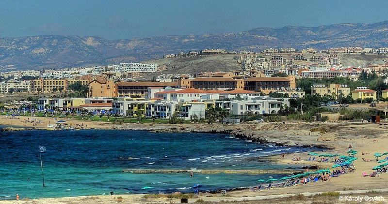 Vista hacia el mar de Pafos