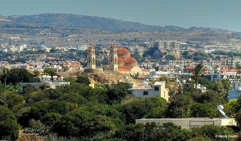 Vista hacia el interior de Pafos