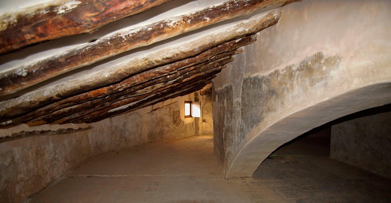 arquitectura Palacio Vizcondal Chelva estructura techo