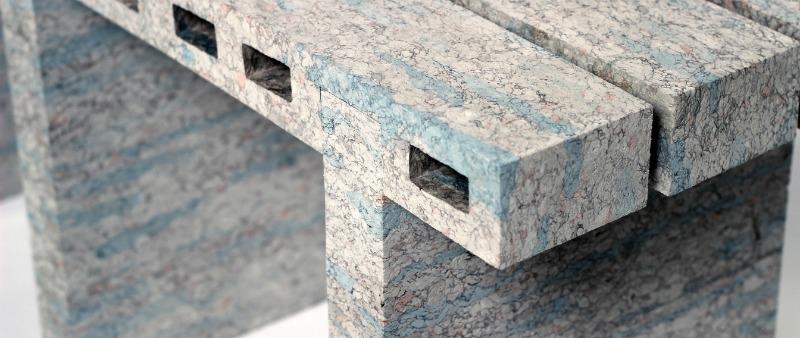 arquitectura, arquitecto, diseño, design, Dutch Design Week 2016, WooJai Lee, PaperBricks, diseño de producto, ladrillos, papel, material, ecología, ecológico, sostenible, sostenibilidad, mueble, mesa, banco