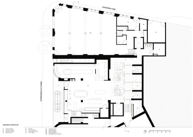 arquitectura_Paramount House Hotel_planta baja