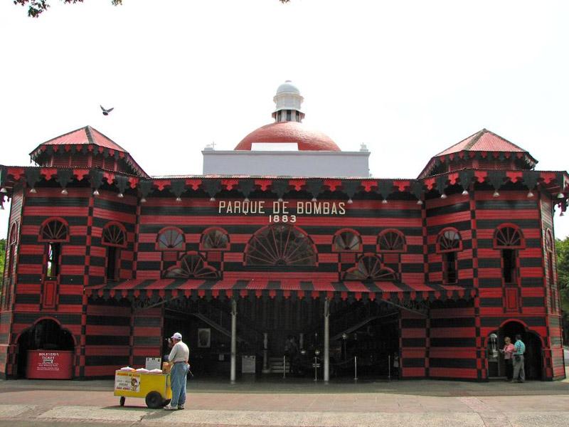 Arquitectura_Parque de Bombas de Ponce_ vista frontal fachada