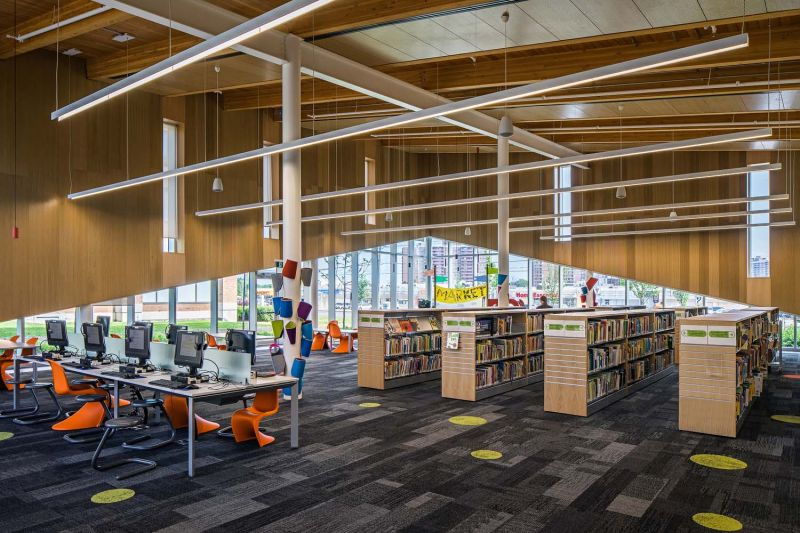 arquitectura_Perkins_Will_Albion_Library_zona niños