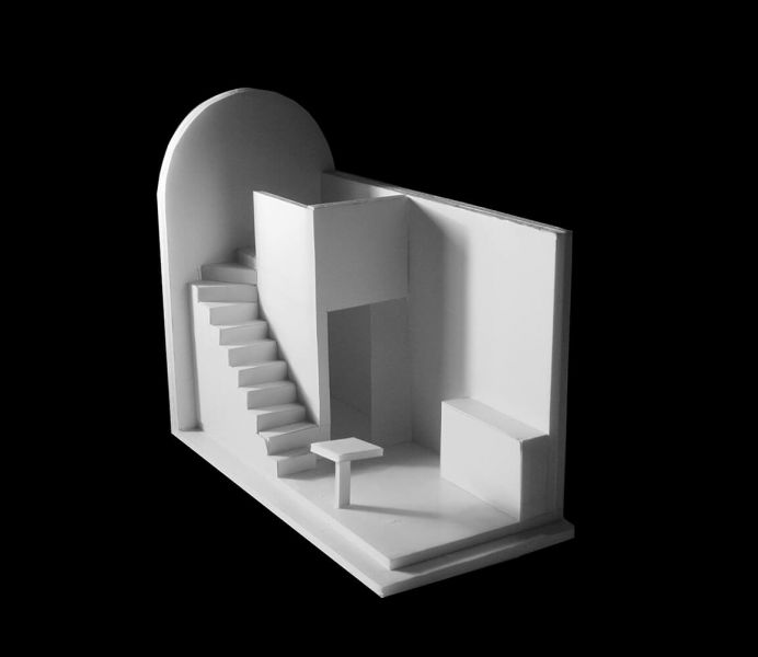 arquitectura_Peter Barber_Micro Homes_maqueta interior