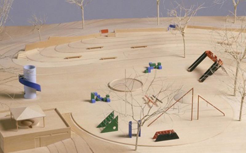 Arquitectura_Isamu Noguchi_ Piedmont Park Parque Infantil Maqueta