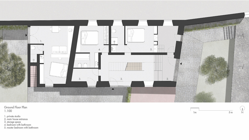 Arquitectura_pink_house_rehabilitacion establo_planta baja