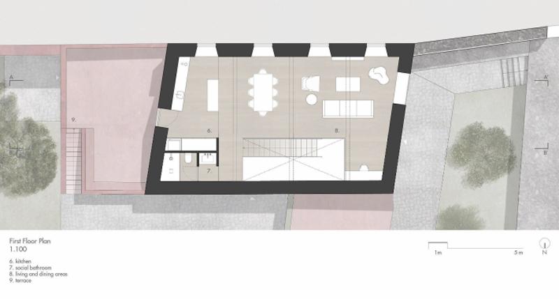 Arquitectura_pink_house_rehabilitacion establo_planta primera