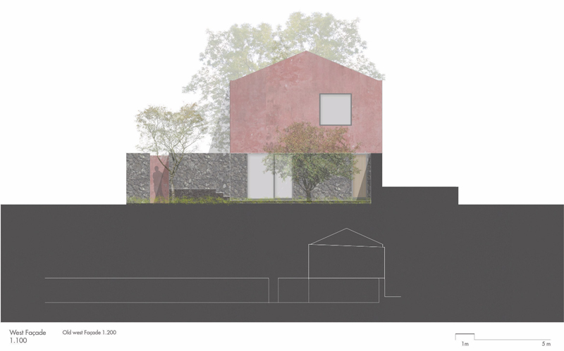 Arquitectura_pink_house_rehabilitacion establo-alzado oeste