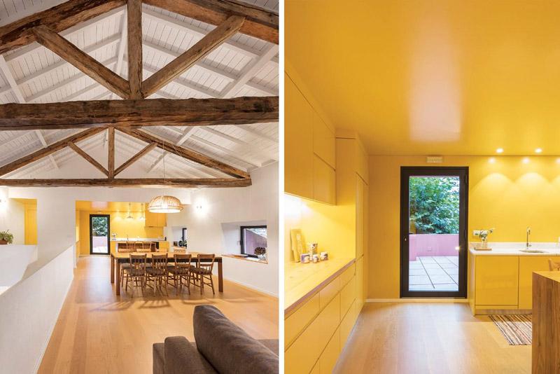 Arquitectura_pink_house_rehabilitacion establo_imagen piso superior interior