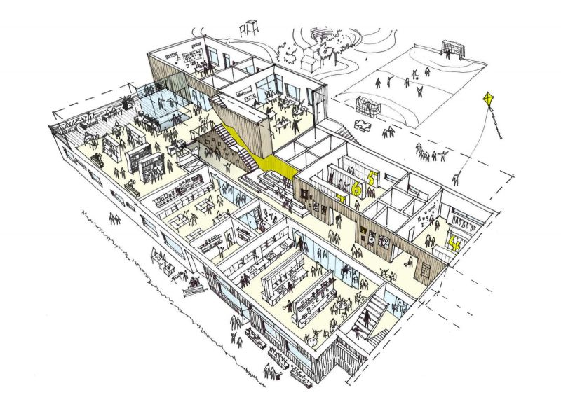 arquitectura_PIR II_new evjen school-architonic_esquema 3d