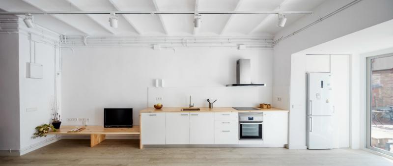 arquitectura, arquitecto, diseño, design, apartamento, reforma, rehabilitación, piso LB, Alventosa Morell Arquitectes, Barcelona, ciudad, antiguo, minimalismo, diáfano, luz natural, Vila de Gràcia