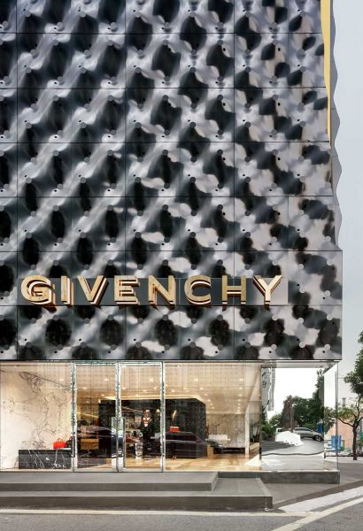 Givenchy Flagship Store Piuarch arquitecturayempresa fotografia detalle fachada
