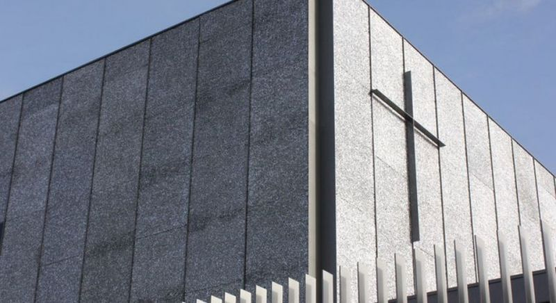 arquitectura_planchas de espuma de aluminio_iglesia