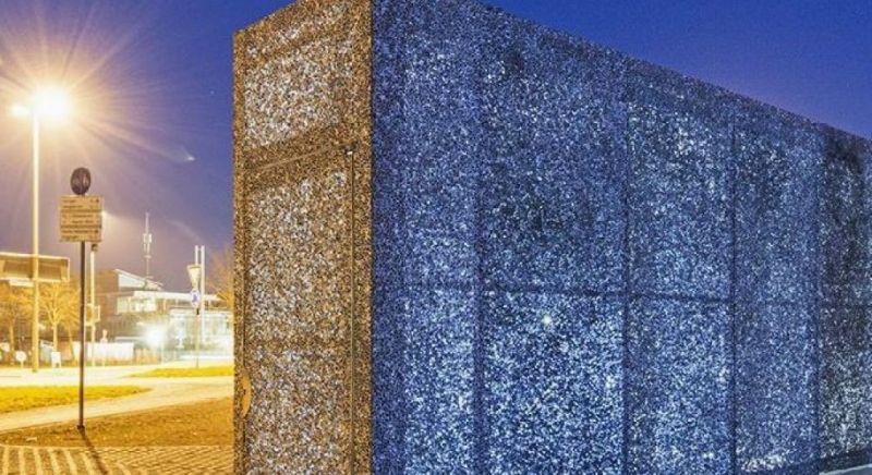 arquitectura_planchas de espuma de aluminio_fachada retroiluminada