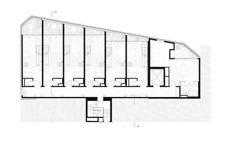 arquitectura_Paramount House Hotel_planta loft