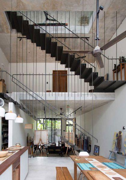 arquitectura Formzero Planter Box house fotografía Ameen Deen escalera metalica