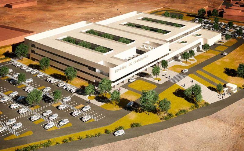 arquitectura PMMT hospital chuquiyaka la paz bolivia render aereo