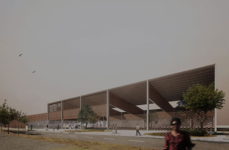 arquitectura PMMT hospital kuito render