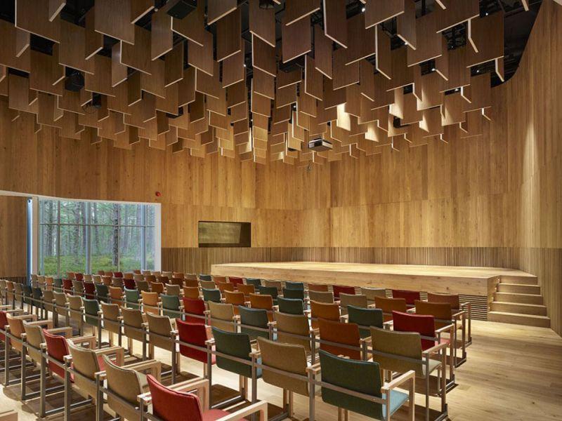 arquitectura El Arvo Pärt Centre en Harjumaa, Estonia. Estudio Nieto Sobejano Arquitectos. Fotografía de Roland Halbe