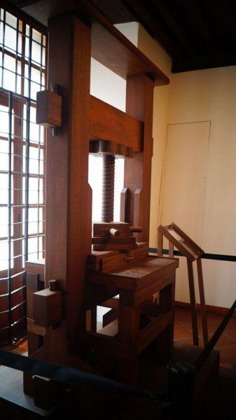 Arquitectura_ Primer Imprenta en America_interior maquina imprenta