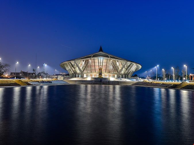 arquitectura Architects 49 Limited auditorio Prince Mahidol Hall fotografia exterior trasera