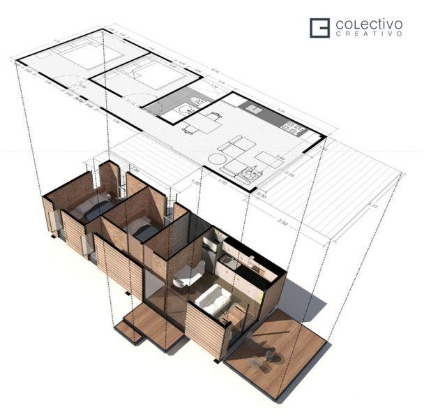 Arquitectura_proyecto Vimob, colombia_ axonometria