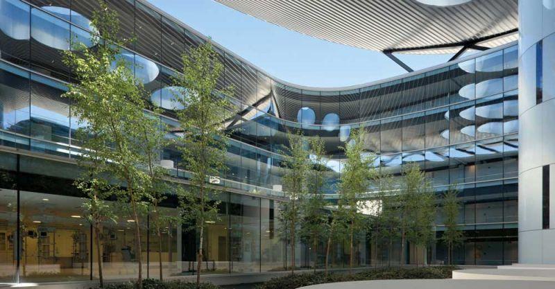 arquitectura Rafael de la Hoz Hospital Universitario Rey Juan Carlos patio