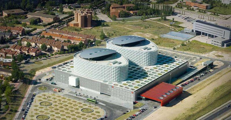 arquitectura Rafael de la Hoz Hospital Universitario Rey Juan Carlos aerea