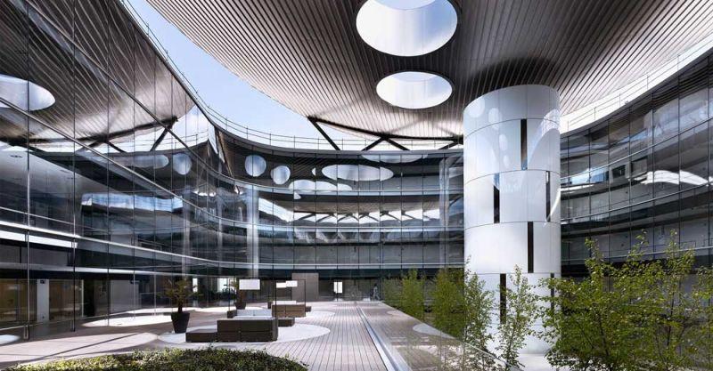 arquitectura Rafael de la Hoz Hospital Universitario Rey Juan Carlos patio interior
