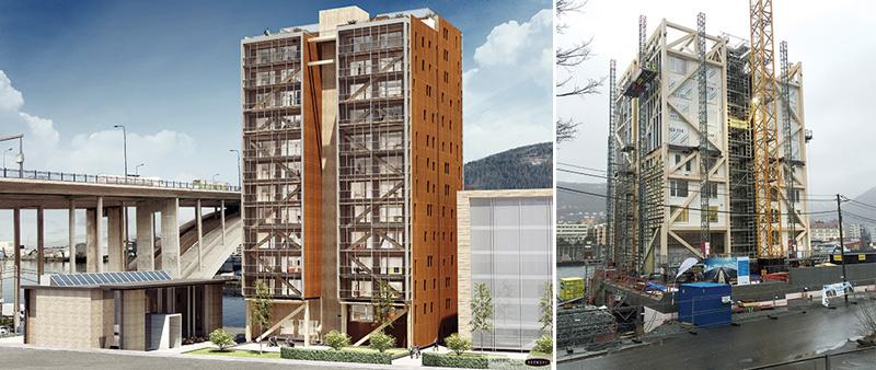 arquitectura, arquitecto, diseño, interiorismo, madera, rascacielos, MGA, DVVD, Treet Tower, Michael Green