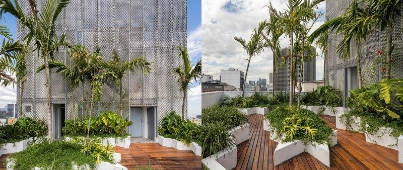 arquitectura, arquitecto, Brasil, Rio de Janeiro, RB12, torre oficinas, verde, sostenible, sostenibilidad, ecología, ecológico, Triptyque Architecture, Natekko, agua pluvial, recogida, paneles fotovoltaicos, energía solar