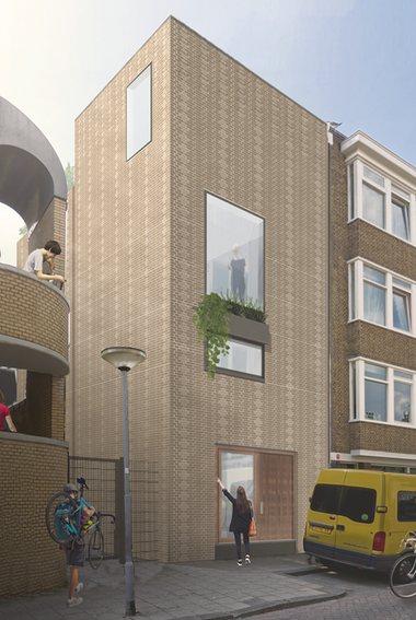 arquitectura reciclaje_Stonecycling_casa Rotterdam acceso y lateral