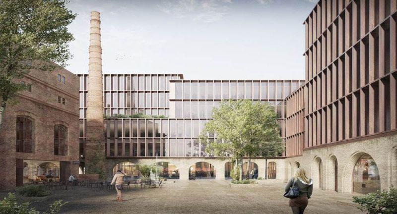 Arquitectura _ rehabilitacion barrio kimmel-riga_letonia_Riga_imagen Render plaza