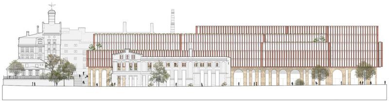 Arquitectura _ rehabilitacion barrio kimmel-riga_letonia_fachada noroeste