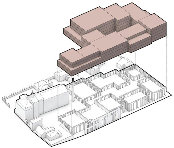 Arquitectura _ rehabilitacion barrio kimmel-riga_letonia_volumen oficinas