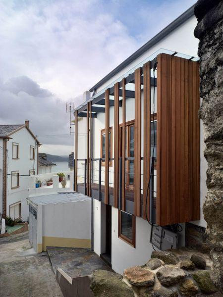 Arquitectura_ Rehabilitación Casa en Porto de Bares_ fachada mirador