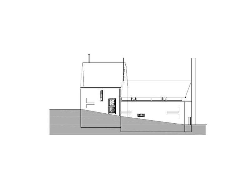 Arquitectura_ Rehabilitación Casa en Porto de Bares_alzado 1