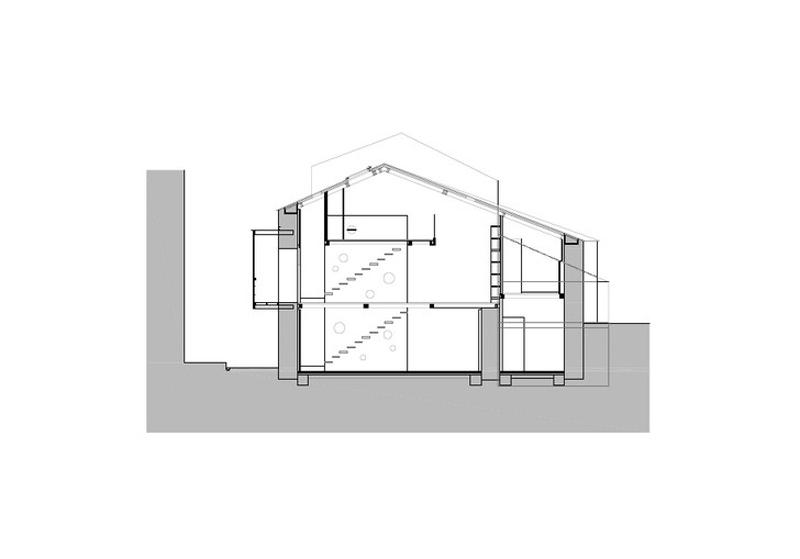 Arquitectura_ Rehabilitación Casa en Porto de Bares_seccion1