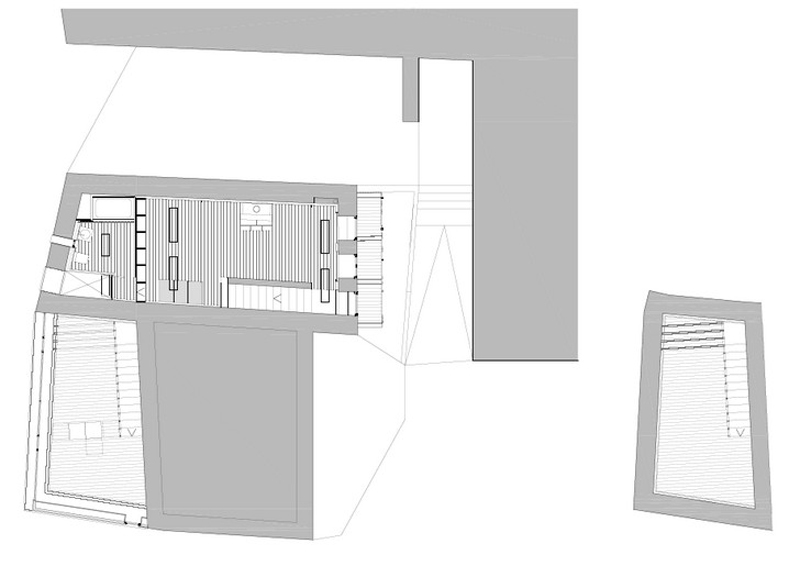Arquitectura_ Rehabilitación Casa en Porto de Bares Planta Primera