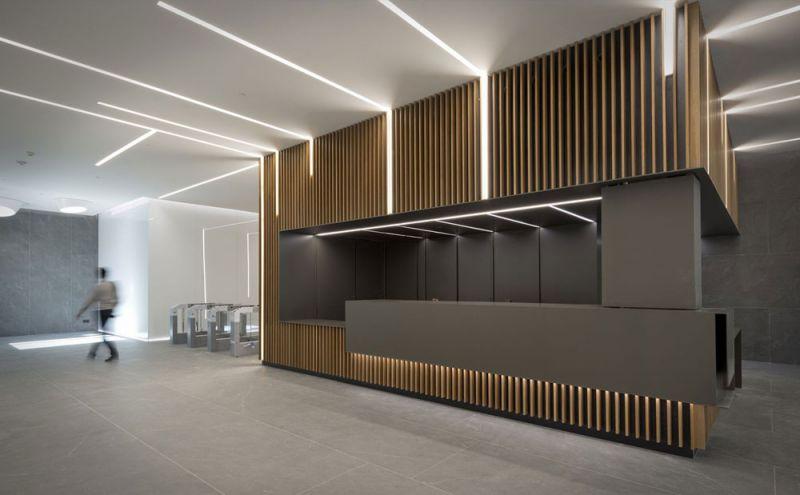 arquitectura estudio L35  rehabilitacion edificio gorbea 1 madrid vista interior recepcion