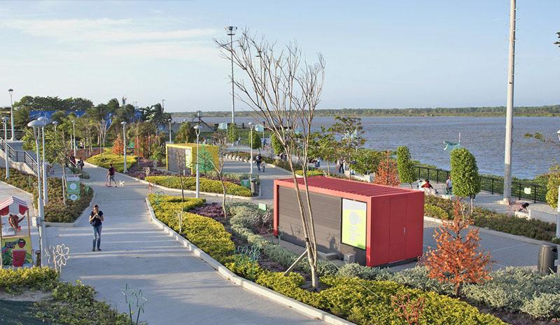 Arquitectura rehabilitación Malecon Barranquilla_ vista del nuevo paseo