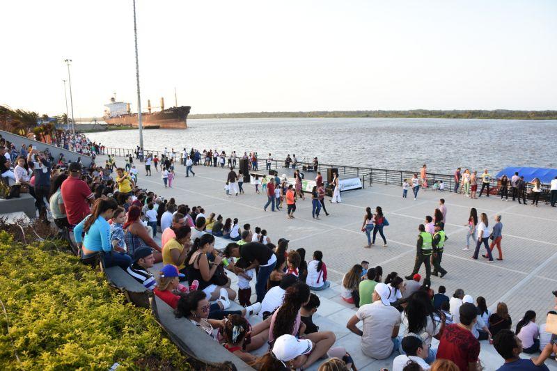 Arquitectura rehabilitación Malecon Barranquilla_vista del Malecon antes