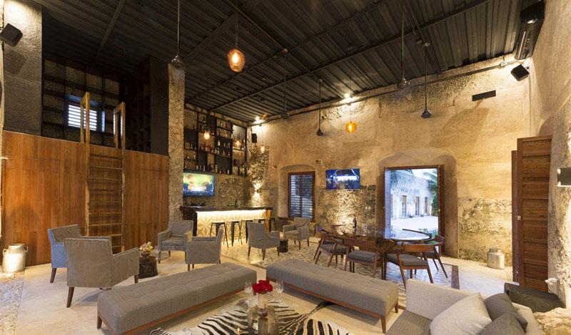 arquitectura rehabilitacion Niop _vista de la zona bar interior