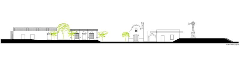 arquitectura rehabilitacion Niop _seccion longitudinal