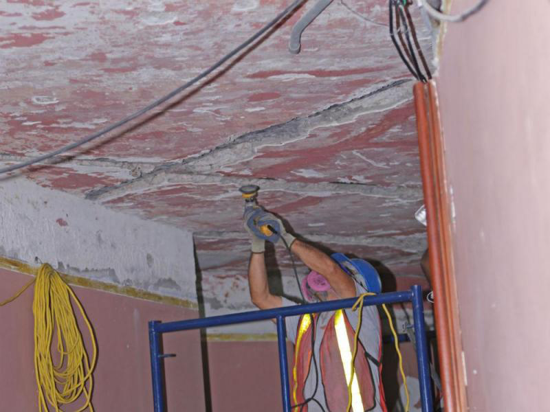 arquitectura_ Rehabilitación teatro nacional_Panama_cielo raso reparación