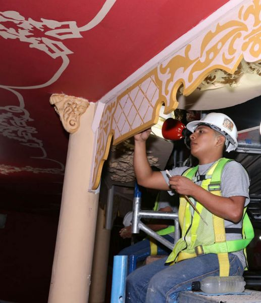 arquitectura_ Rehabilitación teatro nacional_Panama_restauración_ de molduras