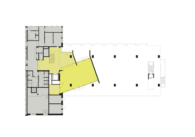 Arquitectura_ remodelación_edificio 27E _plano de planta baja